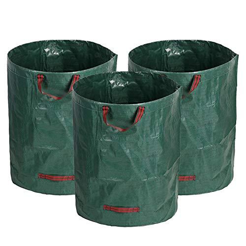 272Lガーデンバッグ ガーデンバケツ 大型庭用袋 自立式 折り畳み 再利用可能な 3パック
