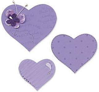 Sizzix 18656334 Big Shot 3 Coeurs Bigz Matrice de Découpe pour Machine Plastique Multicolore 14 x 2 x 17,5 cm
