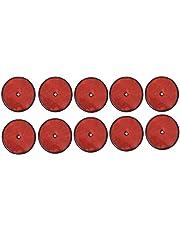 APT 10 reflectores redondos rojos, 85 mm de diámetro, para remolque, E3