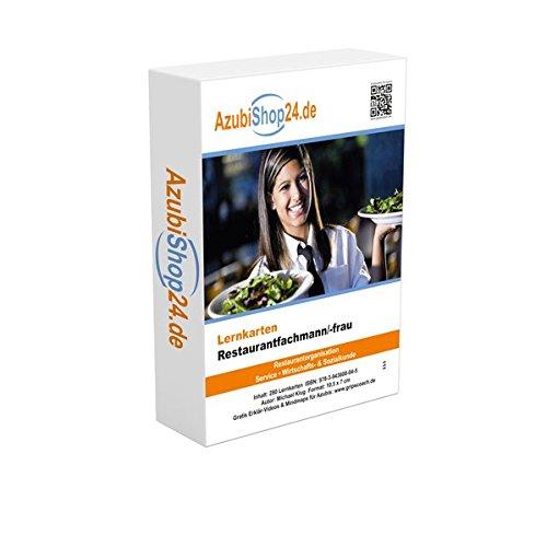 Lernkarten Restaurantfachmann / Restaurantfachfrau Prüfung: Prüfungswissen Restaurantfachmann / Restaurantfachfrau