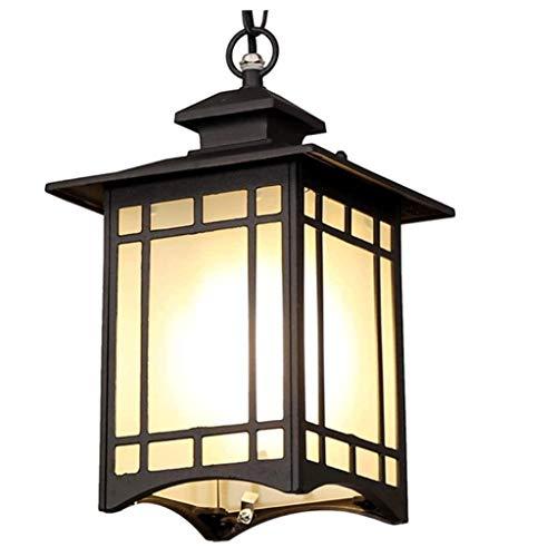 SPNEC Lámpara Colgante Negro, Aluminio Fundido a presión de diseño del Cuerpo de la lámpara, Simple de Estilo Americano Balcón Patio Decoración de la lámpara