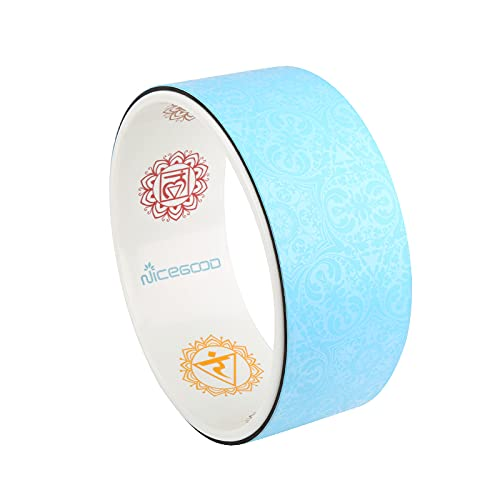 A-Flower Yoga Wheel Prop Exercise Wheel 13 x 5 Inch for Stretching Deeper with Strap and...