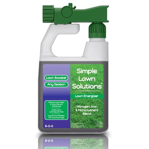 Fertilizante para césped de grado comercial - reforzador de micronutrientes de césped con nitrógeno - fertilizante concentrado en spray de césped líquido natural - cualquier tipo de césped, todo el año - soluciones sencillas para césped, Púrpura