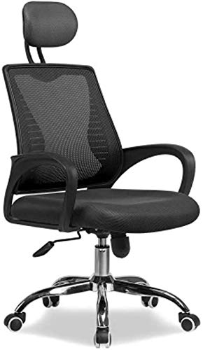 WYB Silla de computadora Escritorios ergonómicos y sillas Inicio Oficina Sillas de Malla Tela Levantamiento Silla giratoria