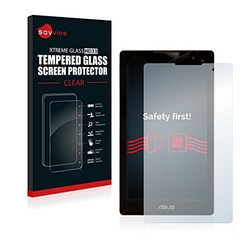 savvies Cristal Templado Compatible con ASUS ZenPad C 7.0 Z170CG Protector Pantalla Vidrio Proteccion 9H Pelicula Anti-Huellas
