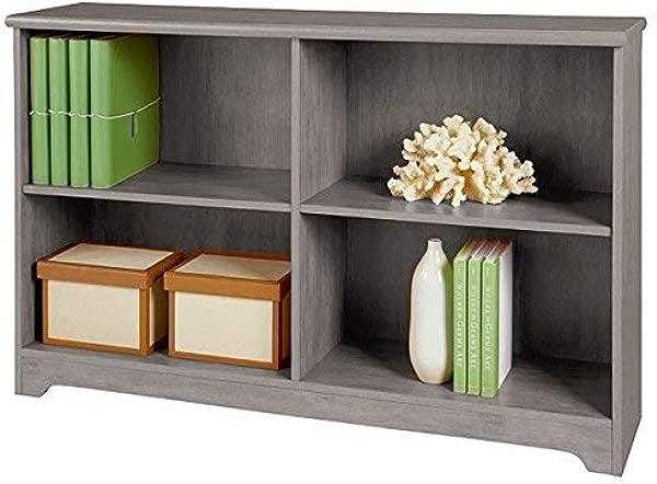 REALONE Industrial K D 2 Shelf Sofa Bookcase Organizer Storage Cabinet Gray