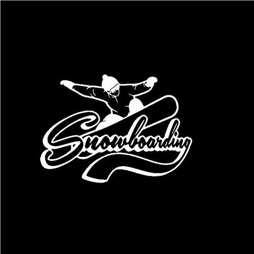 XXYMCB 16,6 cm * 11,6 cm Mode Aufkleber Snowboarding Mann Schwarz Silber Vinyl Auto Aufkleber Grafik-Silber 5 stücke