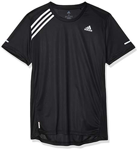adidas Mens Own The Run T-Shirt, Black/White, M