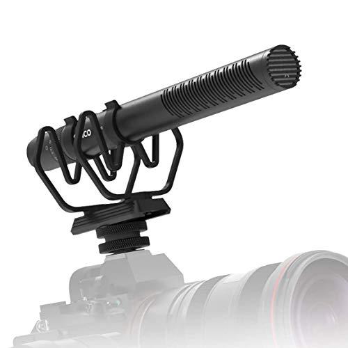 SYNCO Mic-D30 Shotgun-Microphone-Direccional- Condensador-Microfono Supercardioide Mic con Control Gain, Compatible para DSLR Cámara Reflex, Videocámara y Móvil