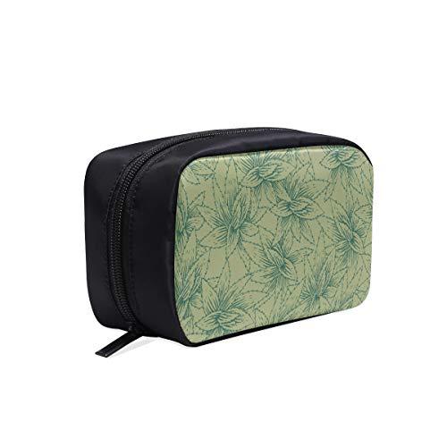 Sac de toilette pour garçons vert mignon frais plante de mode aloès maquillage sac en nylon sacs de mode sac à outils cosmétique sacs à cosmétiques étui multifonctionnel sacs de mode en nylon