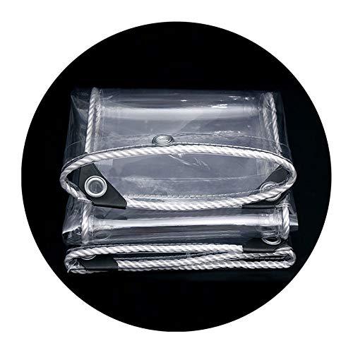 XINGLL Transparente Cobertura De Plástico, Resistente Al Desgaste, Antienvejecimiento, Anticongelante, Carpa Al Aire Libre, Toldo A Prueba Lluvia Polvo, 400G/㎡, 0,3Mm ( Color : Clear , Size : 1.5x2M )
