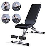 YLCJ Fitness Stuhl Workout Bank Sit-Ups Bauch Board Gym Multifunktionale Hantel Bank Home...