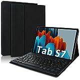 YingStar Funda con Teclado Español Ñ para Samsung Galaxy Tab S7 11' 2020 SM T870 / T875 / T878 Teclado Bluetooth Inalámbrico Carcasa con Teclado Magnético Desmontable para Galaxy Tableta S7 11' 2020