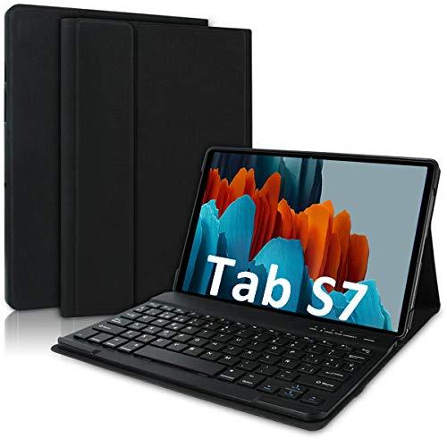 COOLEAD Cover con Tastiera per Samsung Galaxy Tab S7 11   Custodia Tastiera Italiana per Samsung Galaxy Tablet S7 SM-T870   T875 Cover Tastiera Bluetooth Keyboard Wireless Tab S7 Tastiera Custodia