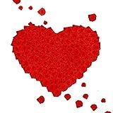 2000 pétalos de rosa rojos, pétalos de flores de seda artificiales, pétalos de rosa falsos, decoración romántica para bodas, fiestas de cumpleaños, propuesta de matrimonio (rojo)