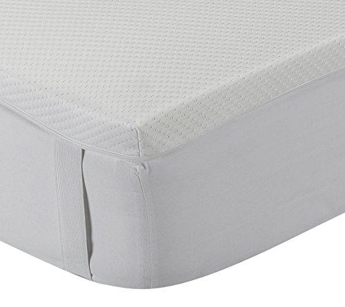 Classic Blanc - Topper/Sobrecolchón viscoelástico 5 cm, con funda lavable y tratamiento Aloe Vera, firmeza media. 105x190cm-Cama 105 (Todas las medidas)