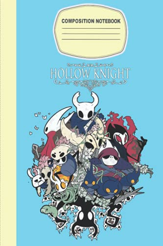 Hollow Knight Notebook Merch for Women Men Teen: Hollow Knight Collage | Hollow Knight Skin Color Theme | Journal | Diary For student, Kids, Children, ... Thick Blank ... 6x9 inches (114 Pages)