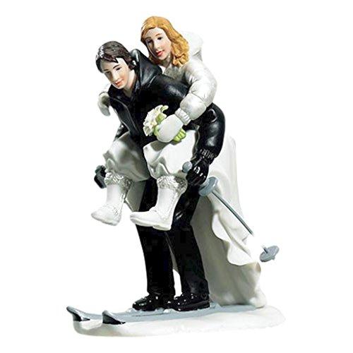"""Tortenfigur Tortenaufsatz """"Skiing"""" für Ihre Hochzeitstorte zur Hochzeit - 8668"""