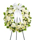 Graceful Standing Wreath- Flowers For Funeral - Funeral Flower Arrangements - Funeral Plants - Same Day Funeral Flowers - Condolence Flowers