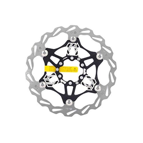 Chooee Disco de Freno 160mm,Bicicleta Freno Rotor para Montaña/MTB,Negro
