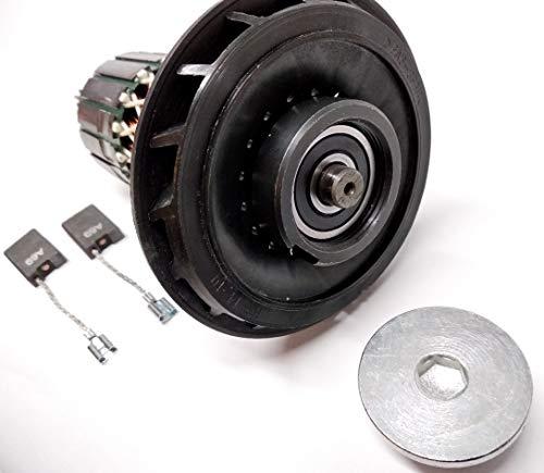 Rotor de motor con rodamiento + anillo roscado + carbón para Bosch GSH 11 E, GBH 11 DE, WÜRTH MH10-SE, Berner BCDH-11