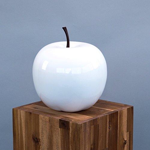 Elegant Einrichten Deko Obst Apfel weiß-D15xH18cm