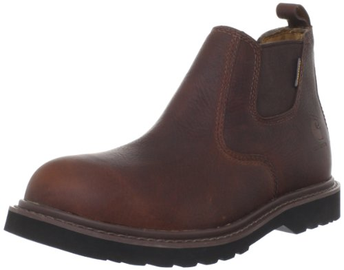 """Carhartt Men's 4"""" Romeo Waterproof Breathable Non Safety Toe Pull-On Boot CMS4100, Dark Brown Oil Tanned, 11 W US"""