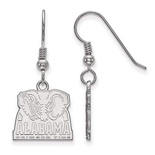 Earrings White Sterling Silver Alabama Women'S NCAA University Of 32 mm 15