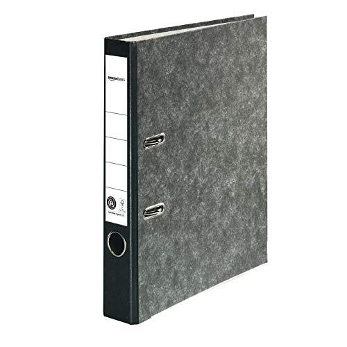 Amazon Basics – Aktenordner, Kaschierung aus Wolkenmarmor-Papier, FSC-zertifiziert, A4, Rücken 50mm breit, 10Stück, Blau