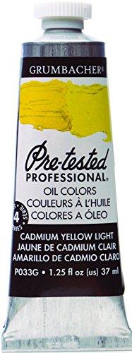 Grumbacher Pre-Tested Oil Paint, 37ml/1.25 oz., Cadmium Yellow Light (P033G)
