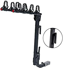 """KAC S4 2"""" Hitch Mounted Rack 4-Bike Premium Carrier with Quick Release Handle, Double Folding, Smart Tilting Design – RV Use Prohibited"""