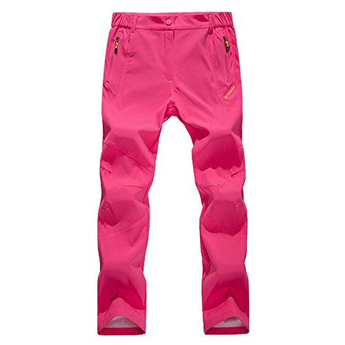 WALK-LEADER pour Femme en Plein air décontracté Coupe-Vent Camping Randonnée Camping Pantalon Pantalon - Rose - Small