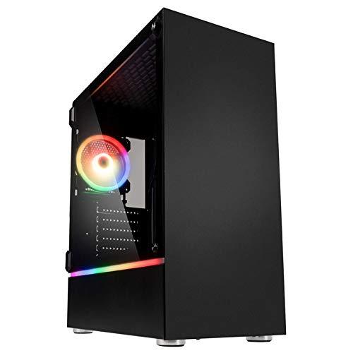 Kolink Bastion - Case RGB Mid-Tower Nero - per PC Gaming con Pannello Laterale in Vetro temperato