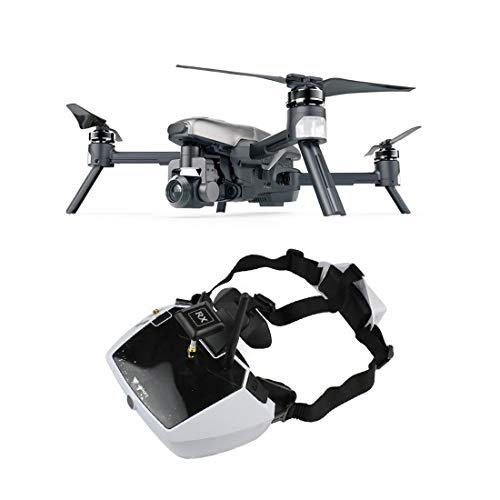 Walkera Vitus 320 Portable Folding FPV Racing Drone Aircraft with Goggle4 40CH FPV Video Goggles 5.8G WiFi FPV 3 Axis Gimbal 4K HD Camera RC Camera Drone Quadcopter