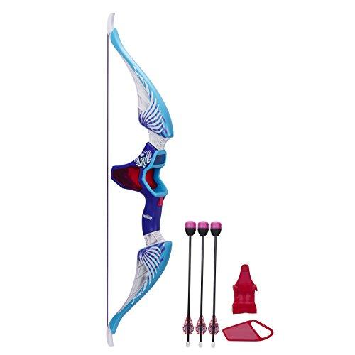 NERF - Rebelle, Arco giocattolo con frecce 'Agent Bow', colore: Azzurro