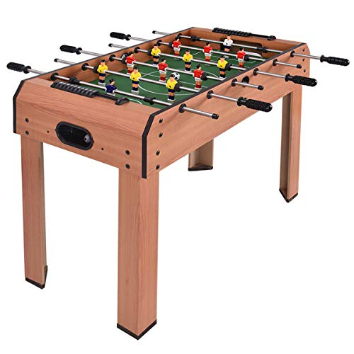 Giantex 37' Foosball Table, Wooden Competition Soccer Game Table w/ 2 Balls, 2 Cup Holders, Recreational Table Football for Arcades, Game Room, Bars, Parties, Family Night