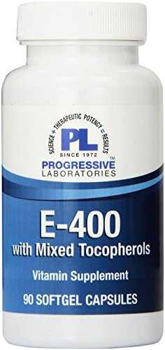 Progressive Labs E-400 with Mixed Tocopherols Supplement, 90 Count