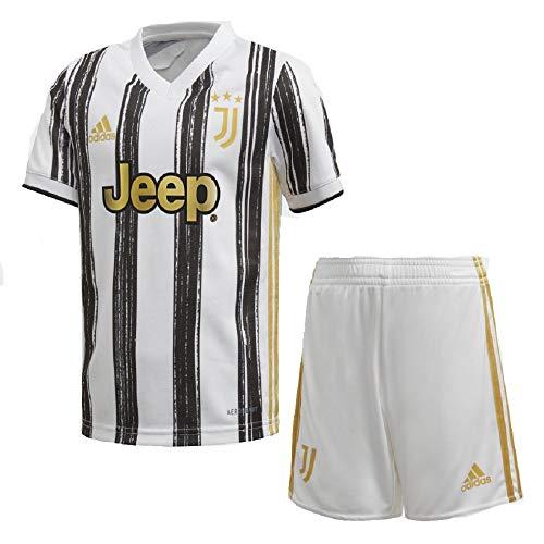 adidas Juventus FC Temporada 2020/21 JUVE H Mini Miniconjunto Primera equipación, Unisex, White/Black, 98
