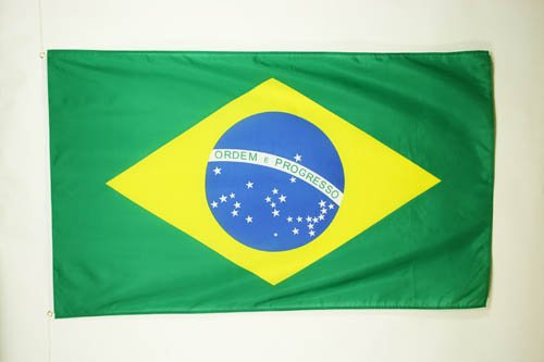 AZ FLAG Flagge BRASILIEN 90x60cm - BRASILIANISCHE Fahne 60 x 90 cm - flaggen Top Qualität
