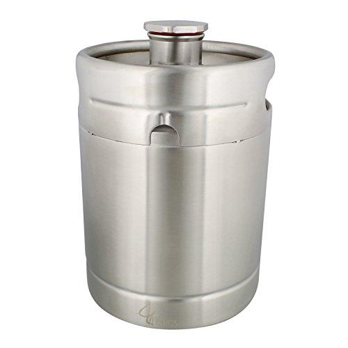 64 Ounce Stainless Steel Mini Keg Growler - Wine Keg Draft Beer Growlers for Beer, Water, Soda, Wine, Coffee