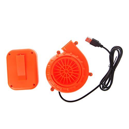 Elektrischer Mini-Ventilator, Luftgebläse für aufblasbares Spielzeug, Kostüm, Puppe, batteriebetrieben, USB