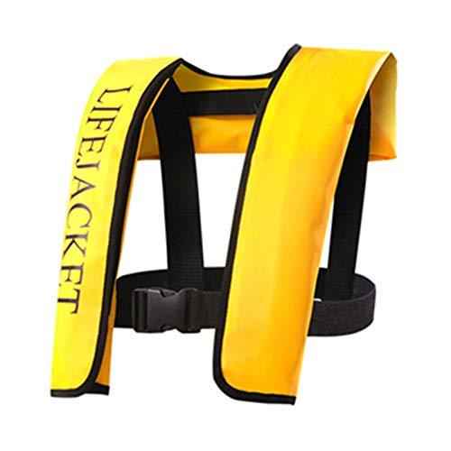 HWZZ Giubbotto Galleggiante Nuoto Giubbotto Salvagente Gonfiabile Salvagente Galleggiante Snorkel Immersioni per Canottaggio Kayak Canoa 40-100 kg Adulto Donna Uomo,Giallo