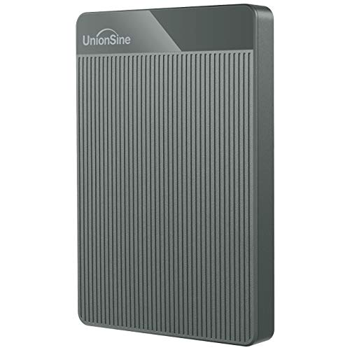 UnionSine Ultra Slim Disco Duro Externo Portátil 2.5' 120GB, USB3.0 SATA HDD Almacenamiento para PC, Mac, MacBook, Chromebook, Xbox, PS4 (Color Gris) HD-006