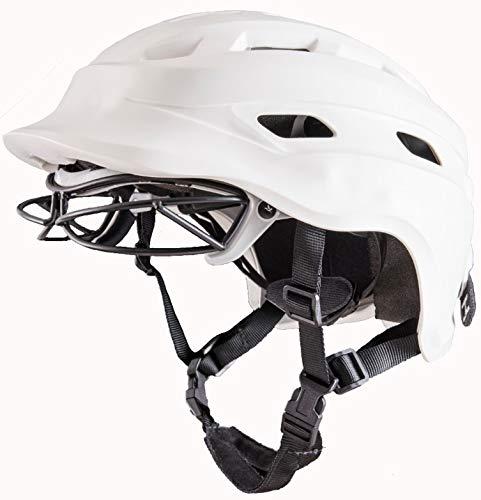 The Hummingbird V2 Girls Lacrosse Helmet (White, Large)