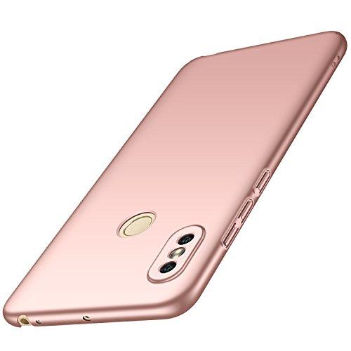 Anccer Funda Xiaomi Mi MAX 3 [Serie Colorida] [Ultra-Delgado] [Ligera] Anti-rasguños Estuche para Case Xiaomi Mi MAX 3 (Oro Rosa Liso)