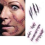SA Halloween Zombie Narben Tattoos mit gefälschter Scab blut Scars Kostüm Makeup Aufkleber