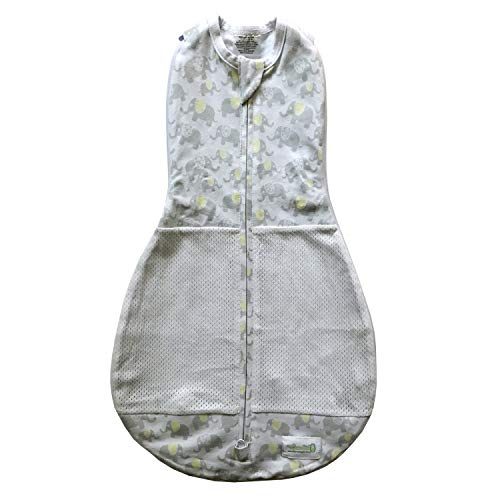 Woombie Grow with me Air Swaddle en slaapzak, olifant