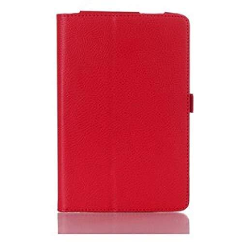 YYLKKB Funda para iPad Mini 4 Mini 5 Funda para iPad mini4 Mini5 Funda Protectora Folio PU Funda de Cuero-Rojo