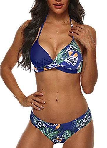Yutdeng Conjuntos de Bikinis para Mujer Push Up Bikini Traje de baño de Tanga de Cintura Baja Coincidencia de Colores BañAdores Ropa de Dos Piezas para Playa vikinis