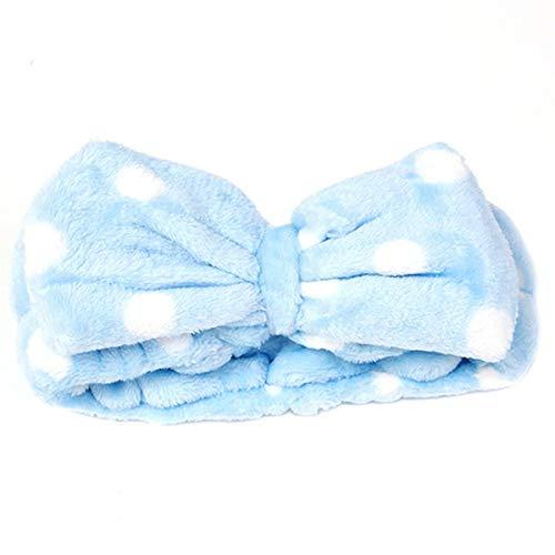 N/K Blau Gesicht waschen Haarband Frauen Bogen Make-up kosmetische elastische Stirnband neu veröffentlicht